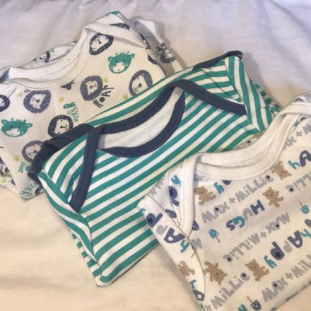 3-6 Month Patterned Bodysuits